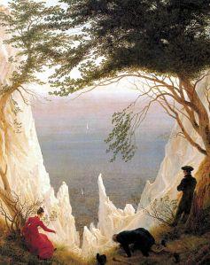 """""""Acantilados blancos en Rügen"""", de Caspar_David_Friedrich."""