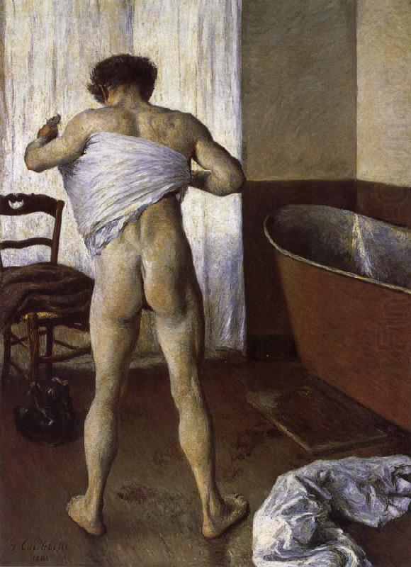 """""""Hombre en el baño"""", de Gustave Caillebotte"""
