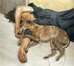 """""""Retrato doble"""", Lucian Freud."""