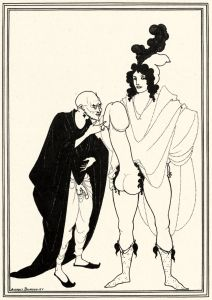 """The examination of the herald"", Aubrey Beardsley."