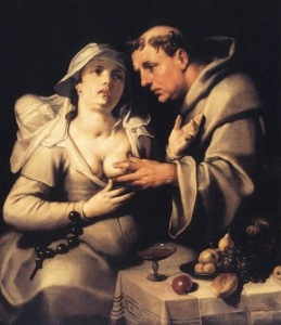 """""""El monje y la monja"""", de Cornelis Van Haarlem."""