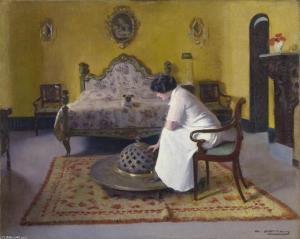 En la habitación, Ramón Casas i Carbó.