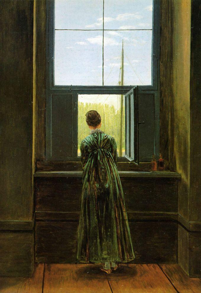 caspar_david_friedrich_mujer-asomada-a-la-ventana-1822